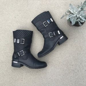 Vince Camuto Welton quilted  moto boots size 8.5M